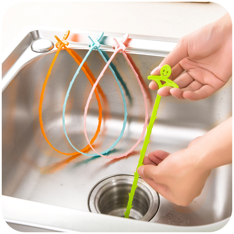 1pcs household kitchen pipe dredge sewer toilet drainage anti blocking cleaning hook water pipe cleaning brush in cleaning brushes from home garden on - Drain Pipe Cleaner