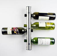 5Pcs Lot Stainless Steel Metal Wine Rack Holder 8 Optional Home Bar Wall Vertical Wine Bottle