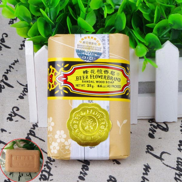 25g Mini Soap Bee Flower Sandalwood Acne Soap Bath Removing Mites Travel Package Toilet Soaps CD88