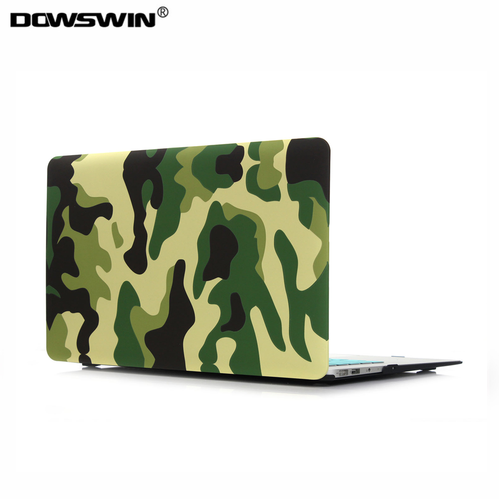 for macbook case ,dowswin for macbook air 11 13 case for macbook pro 13 15 retina,Camouflage pattern with matte keyboard cover