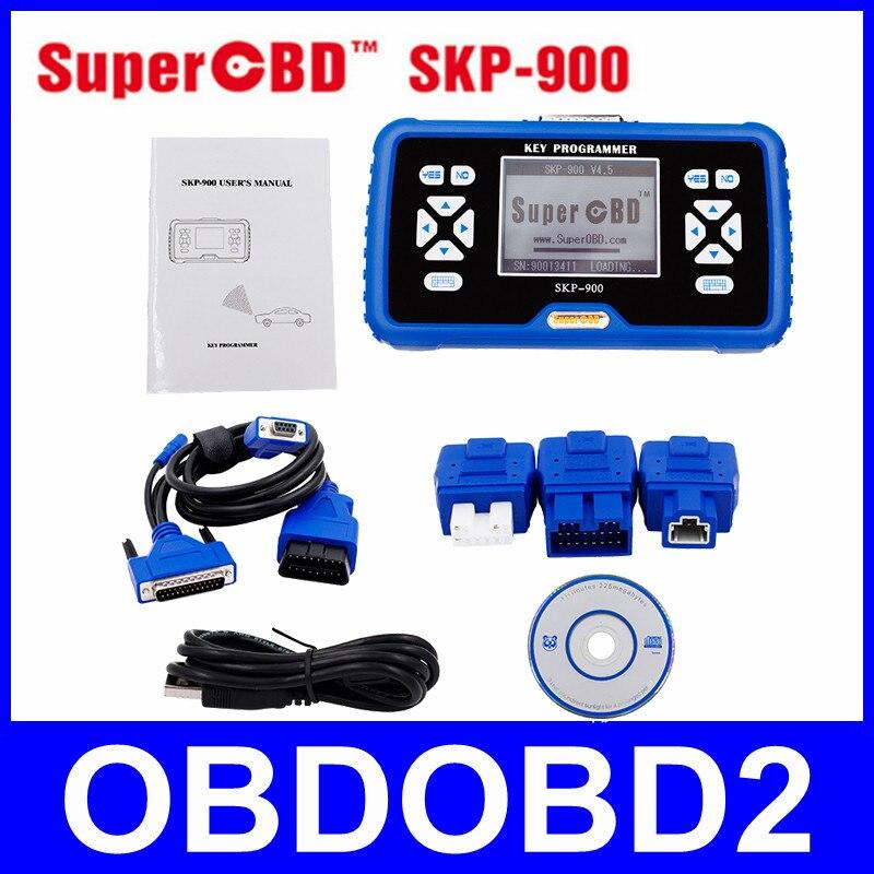 Цена за 100% Оригинал SuperOBD SKP-900 SKP900 OBD2 Auto Key Программист V4.5 Бесплатное Обновление Онлайн Поддержка Почти Все Автомобили DHL Бесплатно