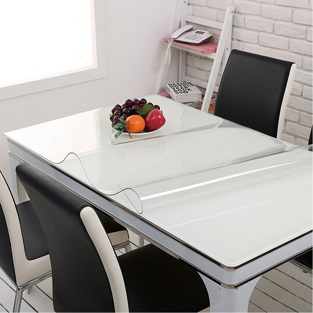 Yazi Transparency PVC Tablecloth Waterproof Oilproof Heat Insulation Table  Cover Kitchen Dining Placemat Pad Thickness 1.0mm In Tablecloths From Home  ...