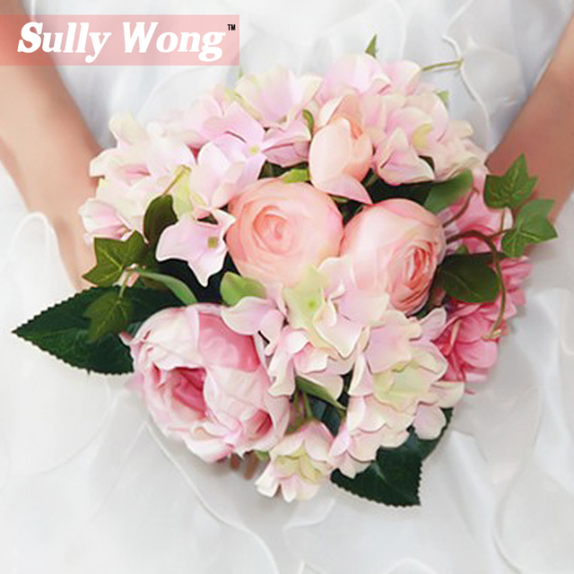Sully Wong 2017New Silk flower wedding bouquet Fresh Roses ...