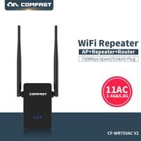 كومفاست ثنائي النطاق موسع واي فاي 750 Mbps واي فاي مكرر Roteador 802.11AC راوتر لاسلكي 2.4G + 5 GHz واي فاي مكبر للصوت|wifi range expander|wireless routerrange expander -