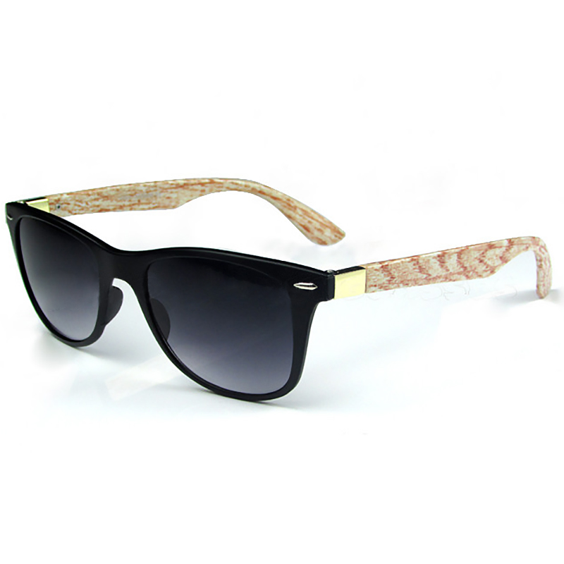 Men Fashion Sunglasses Brand Imitated Wood Retro Wooden Eyewear Sport UV400 Lens