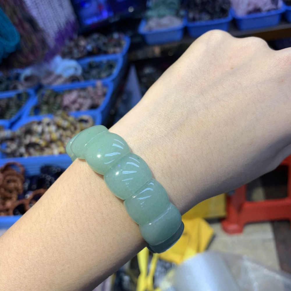 Зеленые авантюрин нефритовые бусы браслет натуральный драгоценный камень браслет для женщин для подарка оптом!