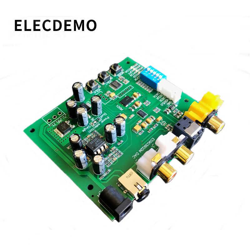 ES9038Q2M I2S IIS DSD DOP Coaxial Fiber เสียงดิจิตอล SPDIF DAC ถอดรหัสสนับสนุน 32bit 384k DSD64 128 256 a9-012