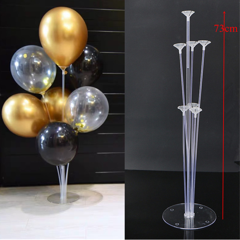 7 Tubes Balloons Holder Column Stand Clear Plastic Balloon -7652