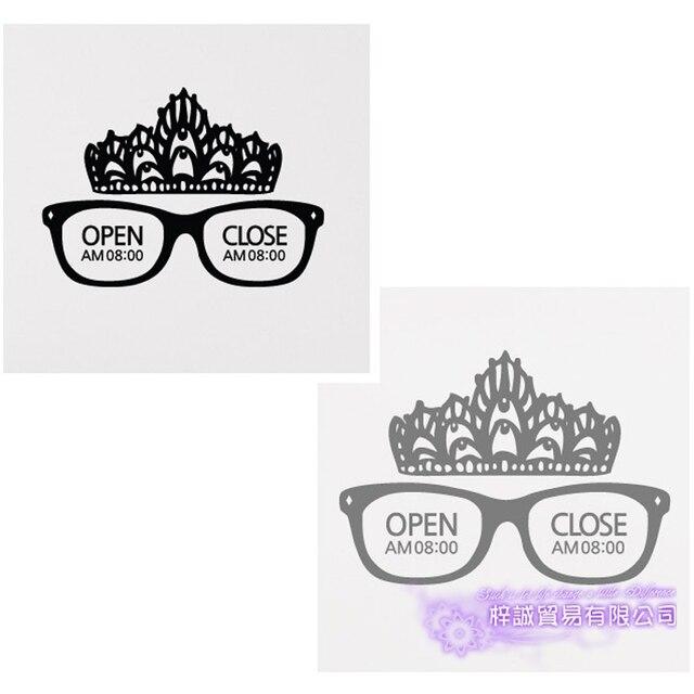 Reine lunettes autocollant optique magasin de soins des yeux décalcomanie magasin vinyle stickers muraux décor Mural lunettes verre optique décalcomanie
