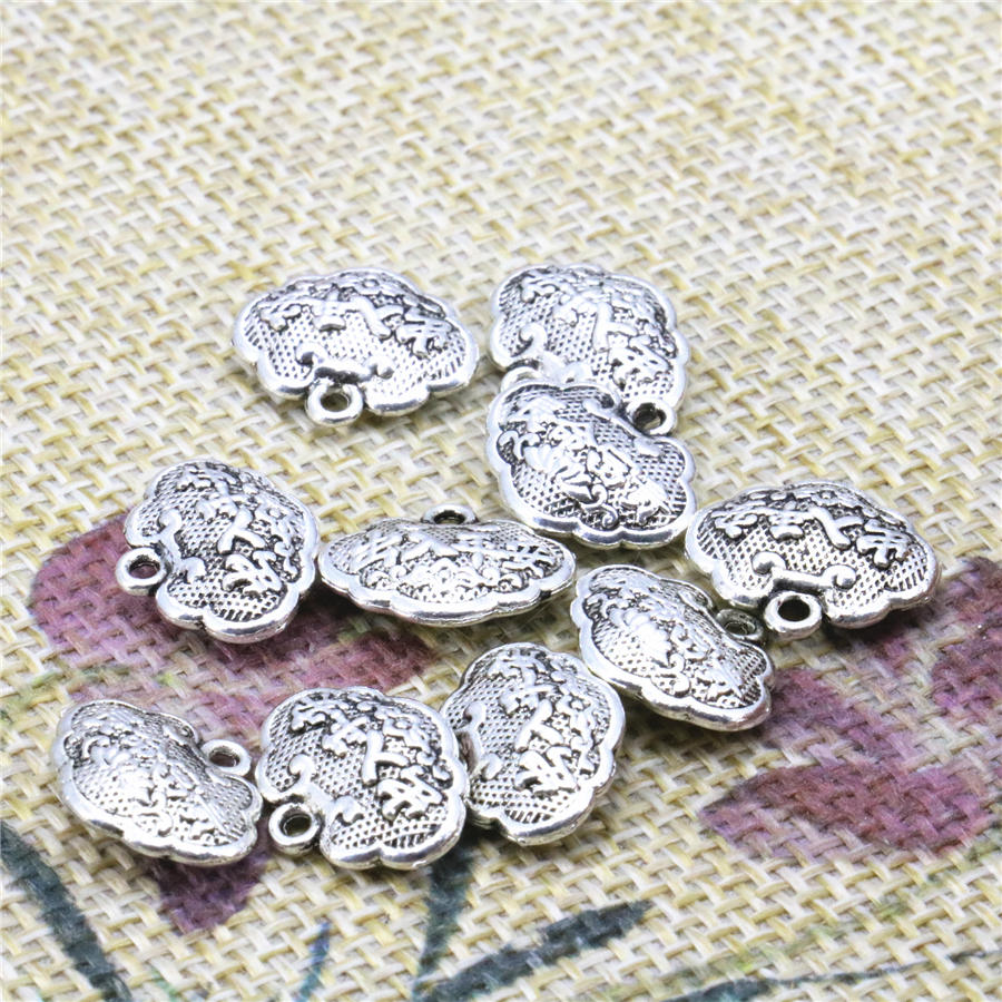 Metal Jewelry Making Crafts Copper Finding Pendant For Accessory Longevity Lucky Lock Shape Parts 11x14mm 10PCS