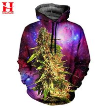 2017 Headbook Cap Hoodies Men/Women 3d Sweatshirts Jacket Print Green Leaves Space Galaxy Hooded Hoodies Galaxy Hoody