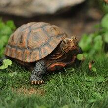 Украшение для сада и виллы, Имитация животных, черепаха, украшение из смолы, цветочный горшок, Маленькая подвеска, украшение для пруда WF6051053