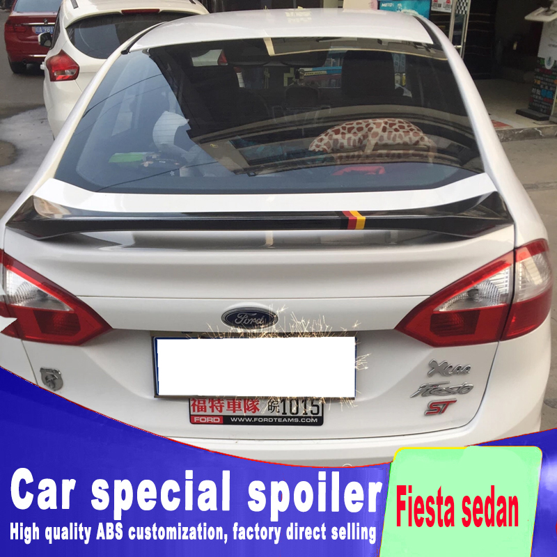 2009 2010 2011 2012 2013 high quality ABS material for ford Fiesta sedan car by rear trunk wing roof spoiler by primer or paint