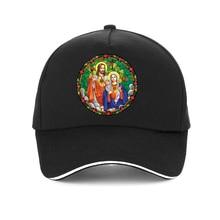 SACRED HEARTS OF JESUS & MARY print cap High Quality 100%Cotton Baseball caps Christian jesus Unisex hat snapback майка print bar personal jesus