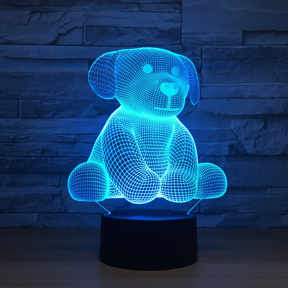 Cartoon Cute Bear Shape Acrylic LED Lamp 3D Night Light For baby children Sleeping Lighting For Home Room Decoration