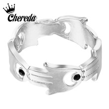 Chereda Hand of Fatima Hamsa Eye Finger Ring Wedding Engagement Brand Statement Personality Knuckle Rings Jewelry