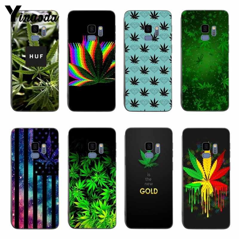 Yinuoda Weed Leaf gras huf Zachte coque Cover case Voor samsung S6edge S7edge S7 S8 S9 S8PLUS s9plus