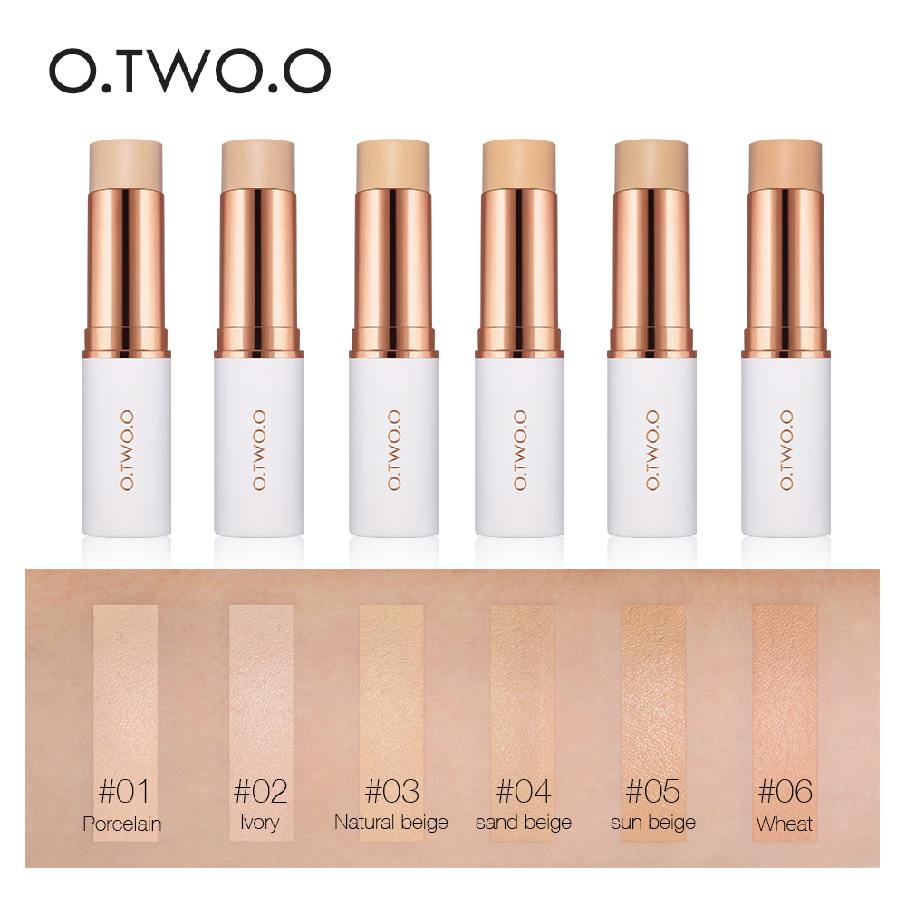 O TWO O Magical Concealer Stick Foundation Makeup Full Cover Contour Face Concealer Cream Base Primer