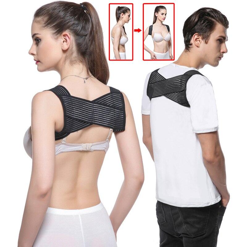 OPHAX Shoulder Corrector De Postura Male Female Back Vest Correct Corset Posture Back Bone Correct Health Care Straightener steel boned brocade corset vest