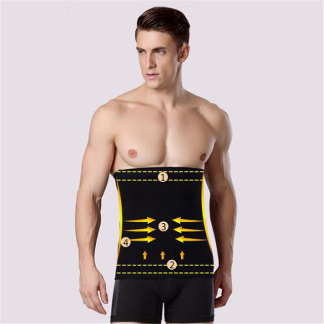 368e4236bd6 Men Slimming Belt Shaper Waist Trimmer Belt Corset Beer Belly anti  cellulite Massage Trainer Sauna Belt NQ873604-in Shapers from Underwear    Sleepwears on ...