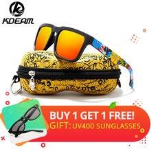 6146853ad3355 KDEAM Eye-catching Função Polarizada Óculos De Sol Para Homens Marca  Grafite Perna Óculos Óculos de Sol Óculos de Proteção UV Ma.