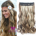 22inch 55cm Sexy Body Wave Hair Extensions One Piece Curly Wave Clip in Hair Extensions Synthetic Hairpiece Free Shipping B10