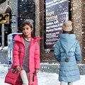 Горячая 2016 новая детская одежда письмо зимнее пальто девушки Мода досуга пуховик Бесплатная доставка