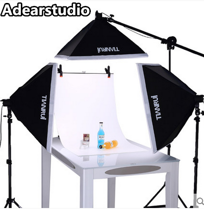 Photography Studio Continuous Light Kit with 50X70cm Soft box and 2M Light stand Boom Arm Shooting   CD50 ashanks small photography studio kit