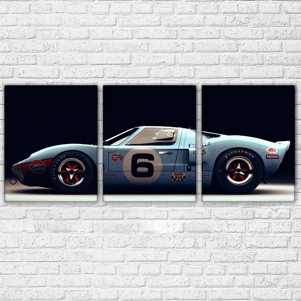 Modern Canvas Paintings Framework Living Room HD Prints Posters Wall Art 3 Pieces Luxury Sports Car Racing Pictures Home Decor