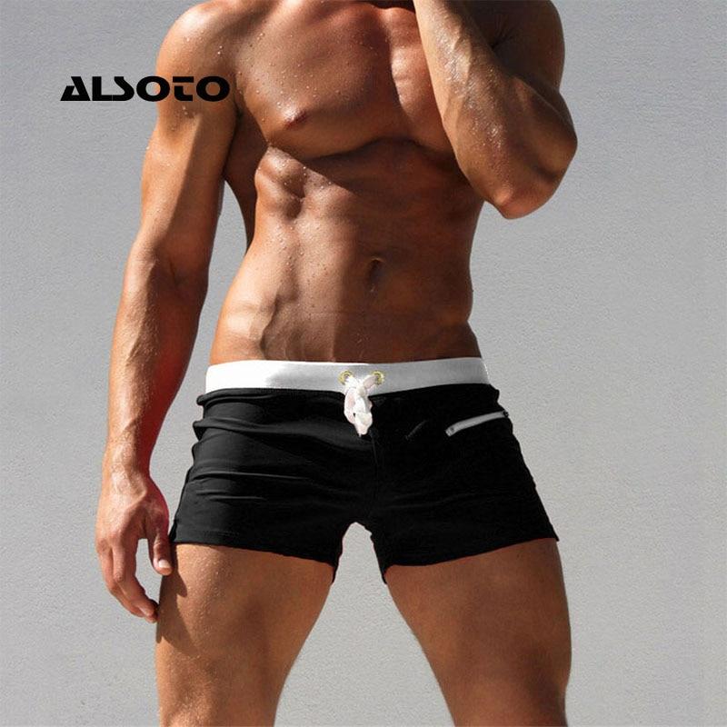 8babddf030 ALSOTO Sexy Swimsuit Swimwear Men maillot de bain Mens Swim Briefs Beach  Shorts Swimming Trunks Zwembroek Heren Mayo