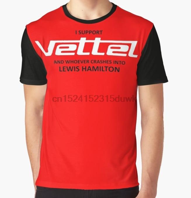 All Over Print T-Shirt Men Funy Tshirt I SUPPORT SEBASTIAN VETTEL Short Sleeve O-Neck Graphic Tops Tee Women T Shirt