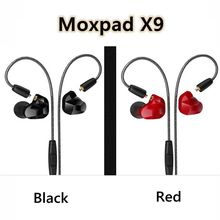 Promotion Moxpad X9 Pro Dual Dynamic Driver Professional In Ear Sport earphones with Mic for Cellphone with retail box PK SE215