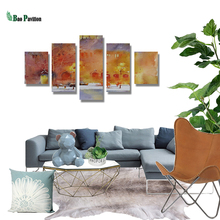 5 Pieces Panel Painting Modern Decorative Print Canvas Landscape  Modular Pictures Large Wall For Living