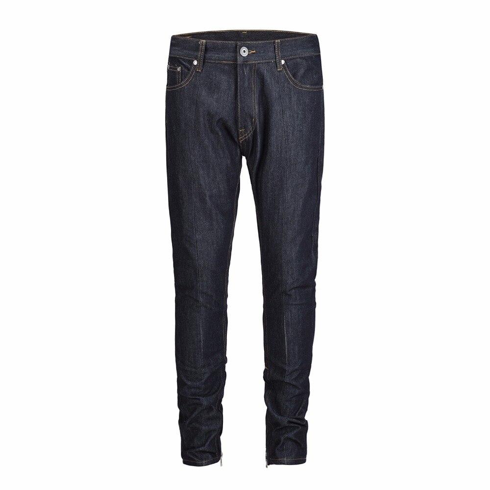 2019 TOP designer vêtements bas côté zipper couleurs primaires hommes skinny jeans hip hop moto biker mode jeans décontractés 30 32 34 36