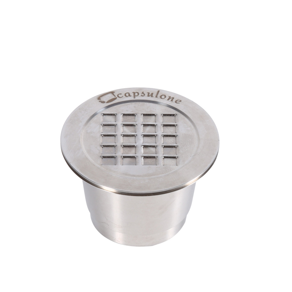 Original Metal Refillable Reusable Coffee Capsule Compatible Stainless Steel  Smooth and Thread Surface  for Nespresso MachineOriginal Metal Refillable Reusable Coffee Capsule Compatible Stainless Steel  Smooth and Thread Surface  for Nespresso Machine