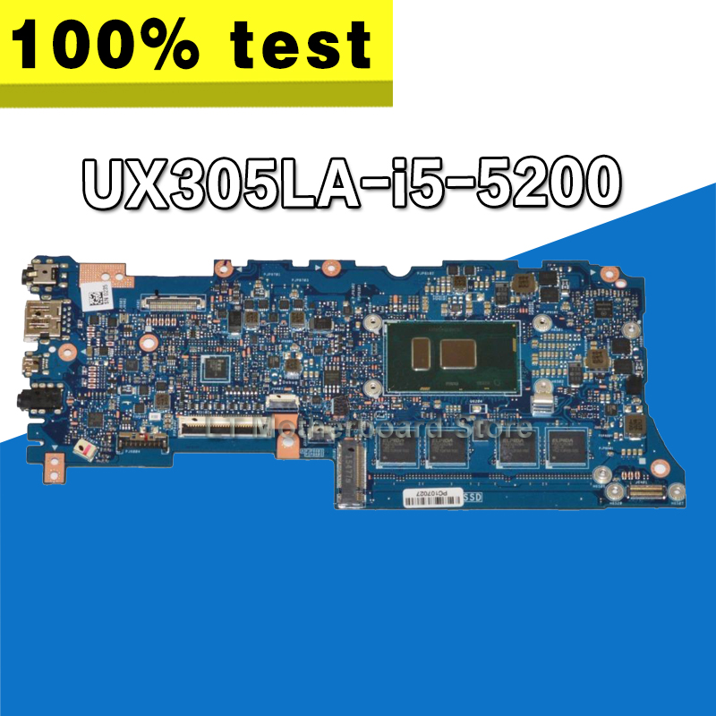 UX305LA Mainboard For Asus UX305 UX305L U305L U305LA Laptop Motherboard with video card and cpu i5-5200 on board 100% tested for asus k501ux k501ub laptop motherboard k501ux mainboard rev2 0 i5 cpu with graphics card 100