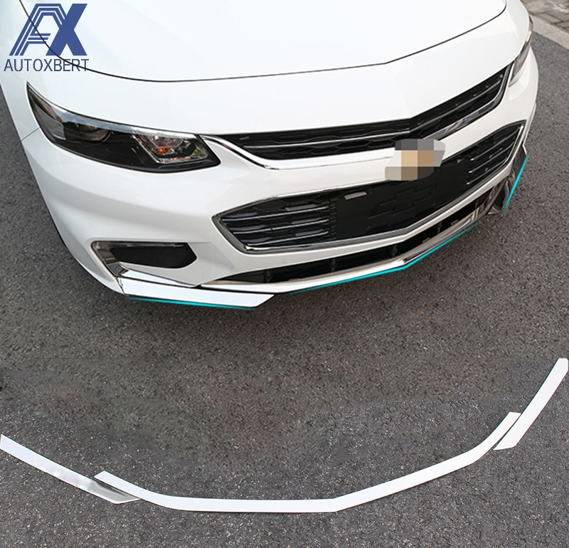 AX Chrome Front Bumper Grille Cover Trim Light Accent Insert Protector Molding Garnish Fit For ...