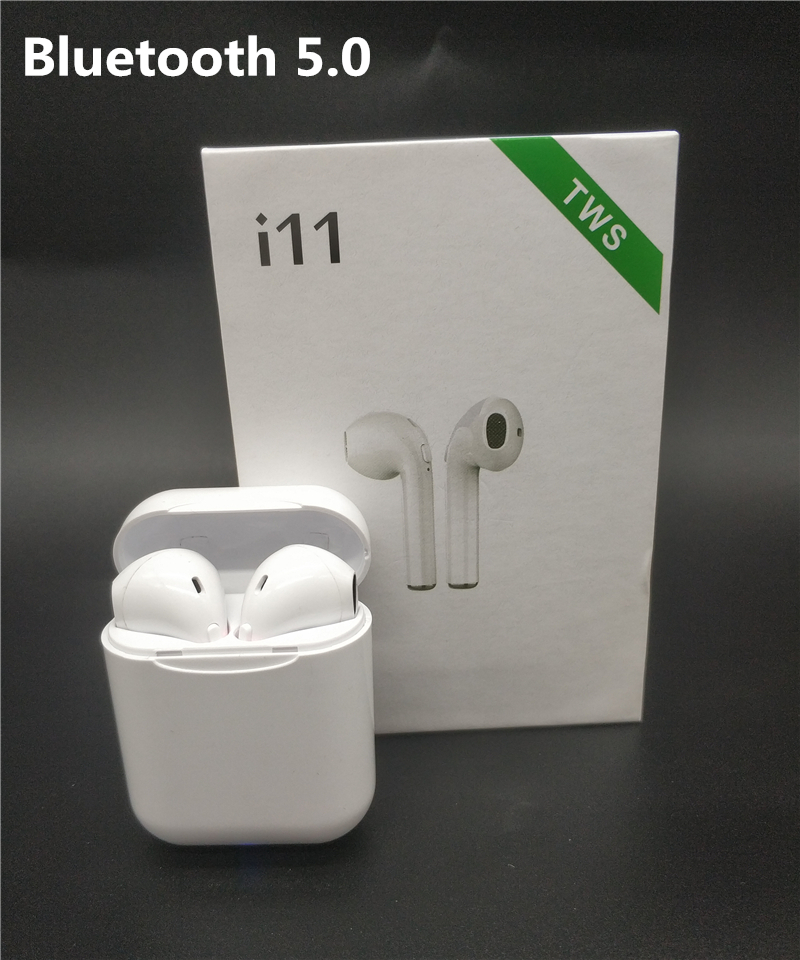 i11 TWS Wireless Bluetooth 5.0 Earphones Earpiece mini Earbuds Headsets With Mic For Samsung S6 S8 iPhone X 7 8 Xiaomi Huawei LG