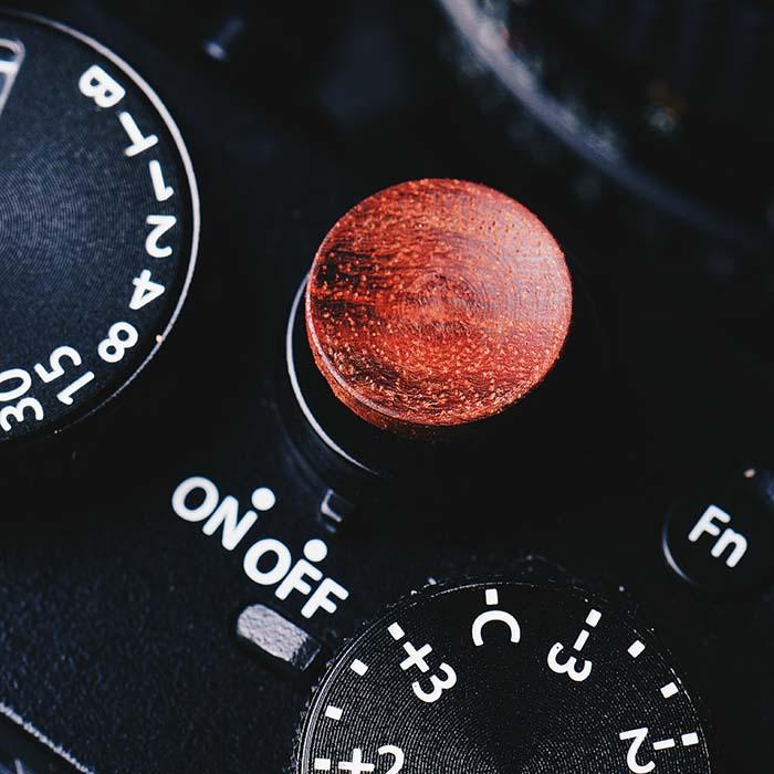 Solide En Bois Bois Déclencheur Bouton pour Fuji XT2 XT10 XT20 X-PRO2 X100F FujiFilm X-T2