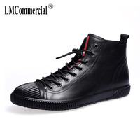 New Autumn Winter British Retro Real Leather Men S Shoes All Match Cowhide Breathable Sneaker Fashion
