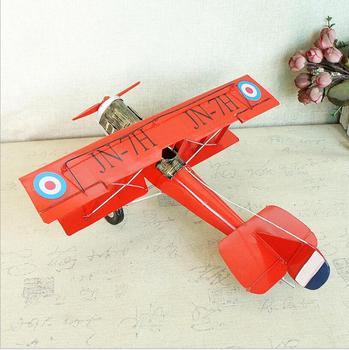 Modelos De Aviones De Metal | Vintage Hecho A Mano Avión De Metal Modelo De Hierro Avión Deslizador Biplane Colgante Avión Modelo De Juguete Escritorio Creativo Decoración Chico