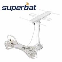 Superbat TV Antenna Interna Antenna Yagi ad Alta Definizione Digitale di Ricezione Del Segnale Antenna F Spina Maschio Connettore