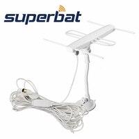 Superbat TV anten kapalı Yagi anten ile yüksek çözünürlüklü dijital sinyal alıcı anten F erkek tak Konnektör
