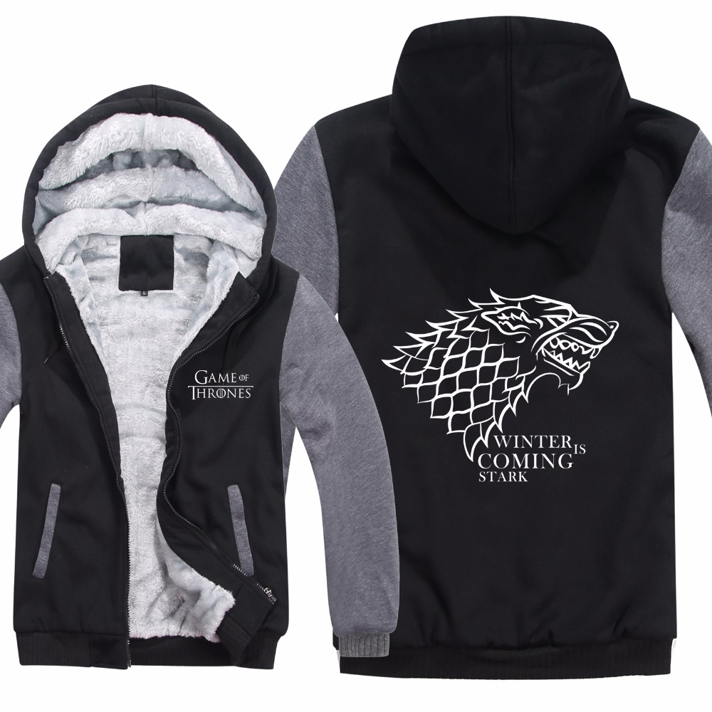 Thrones Zipper as Game Homme Stark As Épaississent Hoodies Pull Doublure Veste Sweat Of Shirts Laine Maison Hiver Polaire Picture H5v5wxUqC