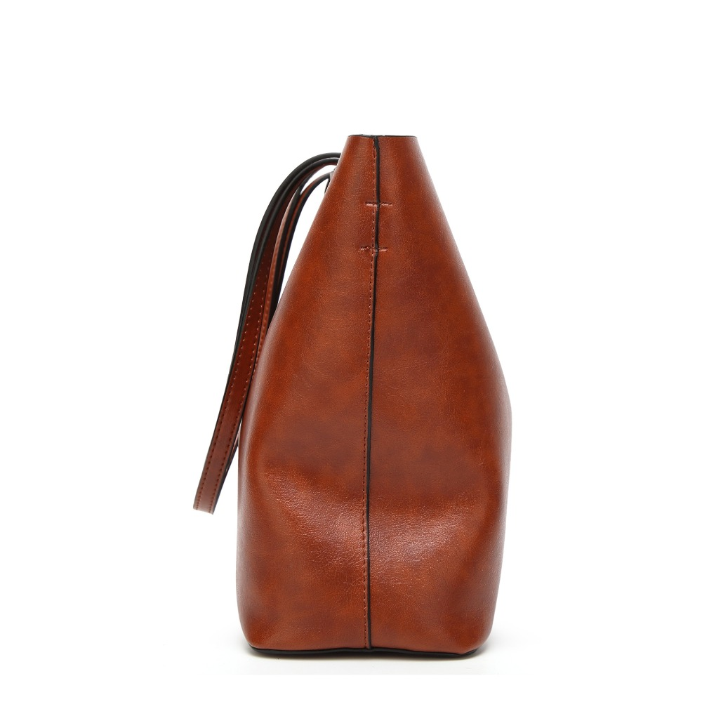 de cera de petróleo de Bag Shape : Oil Wax Leather Women Bag Casual Tote