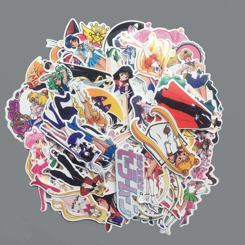35/50/70 Uds exquisita pegatina decorativa para álbum de recortes o decoración de papel resistente al agua de Sailor MOON GIRL|Adhesivos de papelería|   - AliExpress
