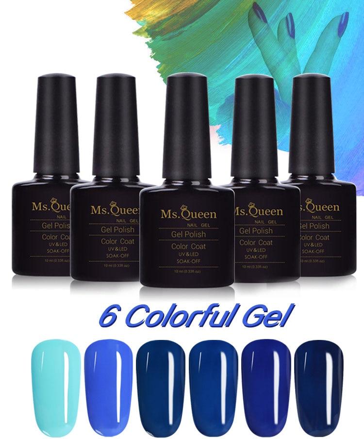 Queen Gel Nail Polish: Ms. Queen Aquamarine Blue Series Nail Gel Polish Blue