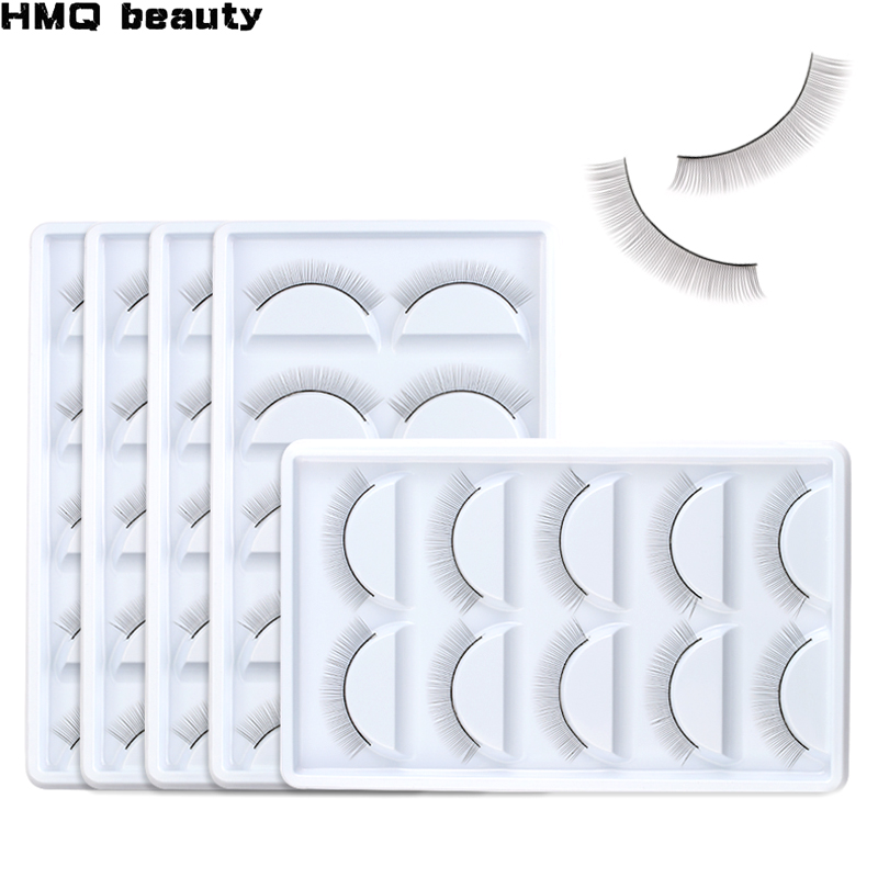 5 Pairs Individual Practice False Eyelashes Natural Training Lashes For Grafted Lashes Eyelash Extension Practicing Teaching