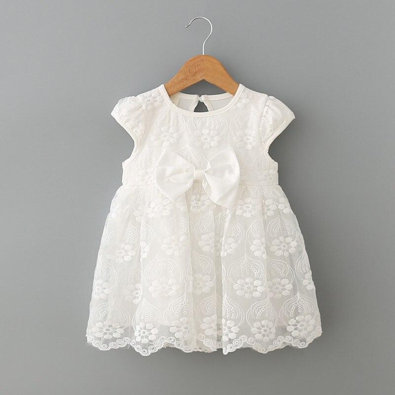 7585c80ac Ropa de bebé niña verano nuevo bebé niñas vestido blanco niños Primer  cumpleaños un año de encaje lindo vestidos de fiesta recién nacido princesa  desgaste