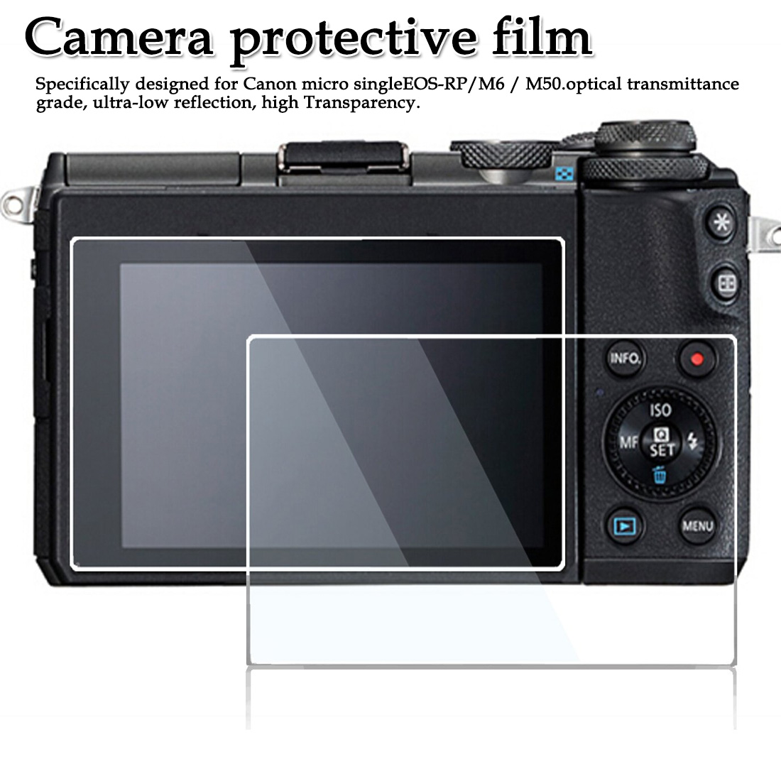for Canon EOS-RP/M6/M50  Micro single Full screen anti-fingerprint screen stickers Camera Protective Film(China)